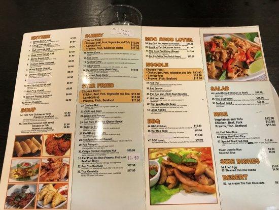 Long Jetty, Austrália: 餐牌, 有價錢, 價錢在該區不算貴