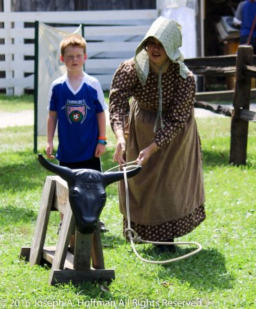 Olathe, KS: We offer 1860s living history activities all year round.