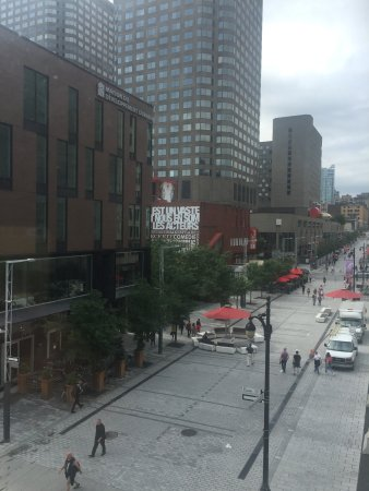 Hotel Quartier des Spectacles: View looking west from C205.