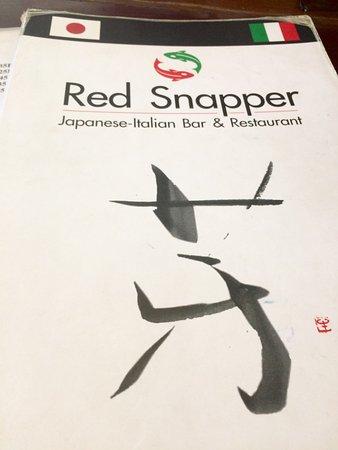 Red Snapper : DETALLE DE LA CARTA