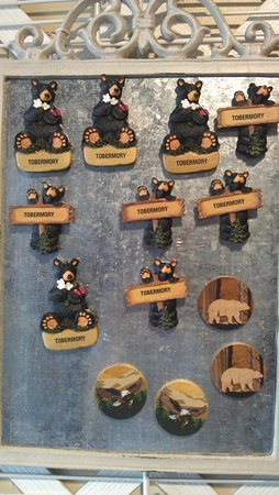 The Hummingbird House Gift & Craft Shoppe: Tobermory black bear magnets