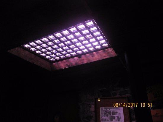 Pendleton Underground Tour: light from above for the undergound tour.