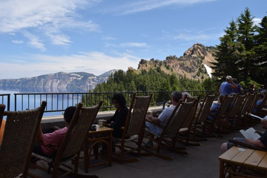 View From Deck Picture Of Crater Lake Lodge Dining Room