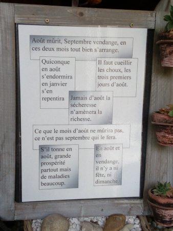 Azay-le-Rideau, Francia: Affiche à l'entrée