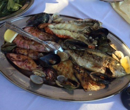 Ston, Kroasia: Seafood platter