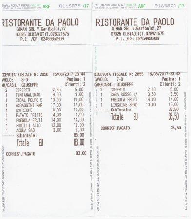 Ristorante Da Paolo, Olbia - Via Garibaldi 18 - Restaurant Reviews