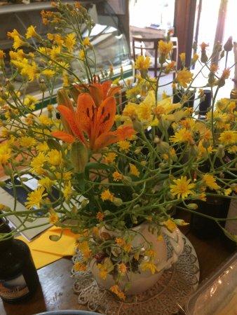 Cartoceto, Italie : I fiori e le erbe sono gli elementi distintivi delle nostre produzioni casearie caprini e pecori