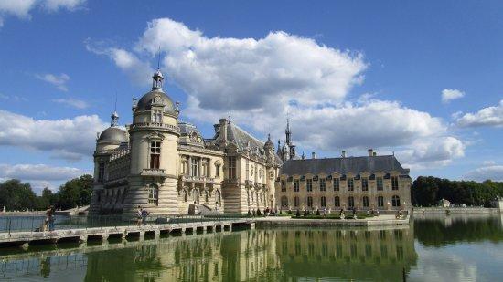 Château de Chantilly : l'arrière du château