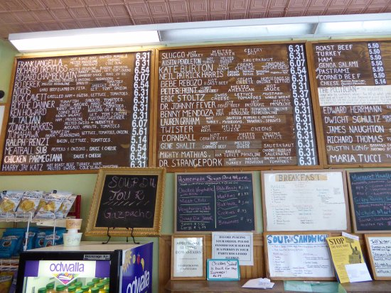Pappa Charlie's Deli Sandwich : Incredible sandwich board