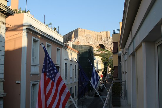 AVA Hotel Athens: View of the Acropolis (from balcony)