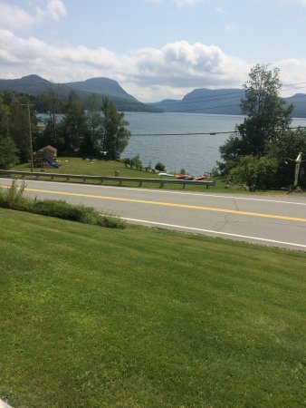 East Burke, VT: View of Lake from side of road