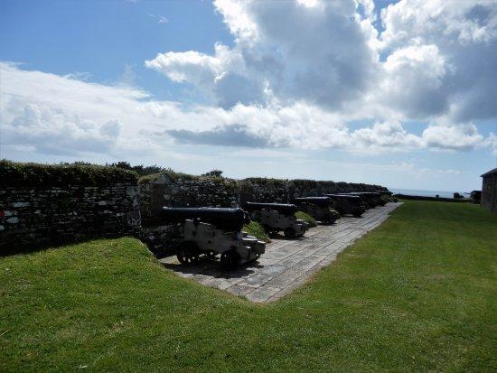 Falmouth, UK: The gun battery