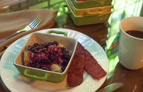 The Inn at Rose Hall Bed and Breakfast: We use fresh seasonal fruit in our Blueberry Delight.  One of our many breakfast treats.