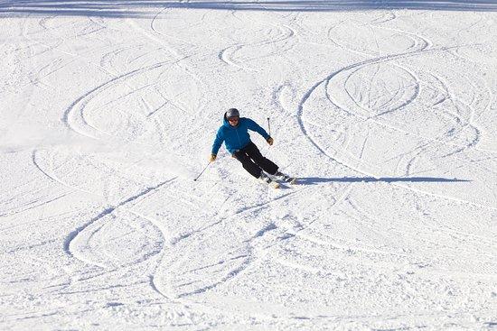 Skiing at Woodstock Inn's Suicide Six Ski Area