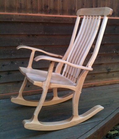 Handcrafted custom rocker by Lost River Woodworking