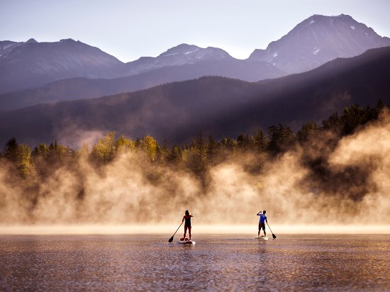 Stand-Up Paddleboarding in Whistler Photo by Andrew Strain