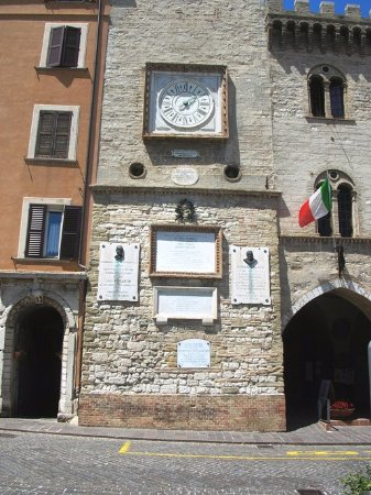 Arcevia, Itália: Orologio (particolare)