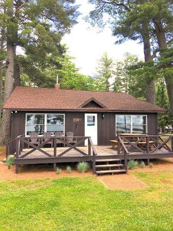 Saint Germain, Wisconsin: Cabin # 6 lakeside cabin at Deer Run Resort
