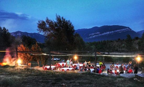 Guardiola de Berguedà, España: Cena tipica: Asado
