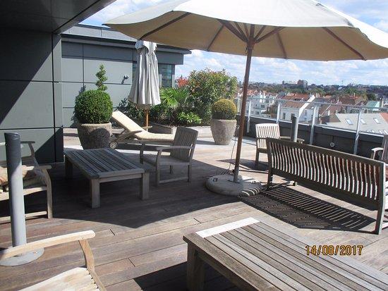 Sofitel Brussels Europe: agréable terrasse