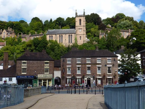 Ironbridge, UK: A view from the Toll House over the bridge to the town