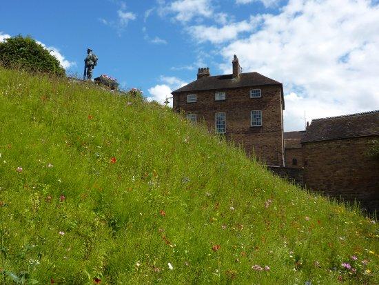 Ironbridge, UK: A view up towards the war memorial