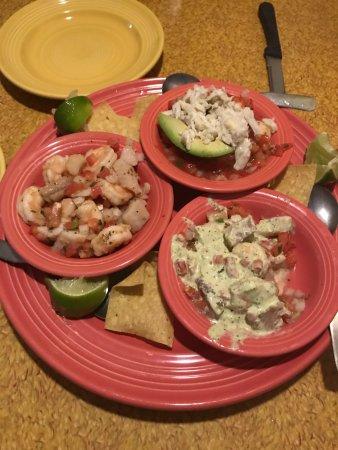 La Playa Mexican Grille : Cheviche sampler