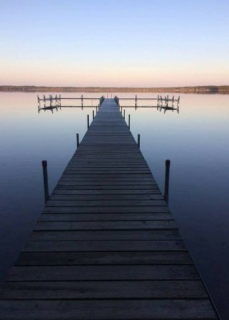 Saint Germain, WI: Main pier at Deer Run Resort,  2 other piers also available