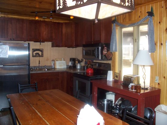 Saint Germain, WI: Unit # 2,  6 bedroom 3 bath.  Picture of large kitchen with table to seat 10-12