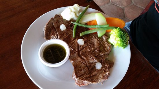 Restaurante El Espigon: Churrasco steak that comes with rice and fries
