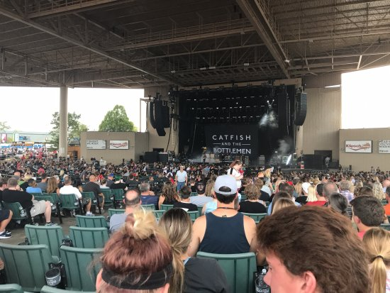 Noblesville, Ιντιάνα: View from our seats in Section G, Row T, Seats 5-7