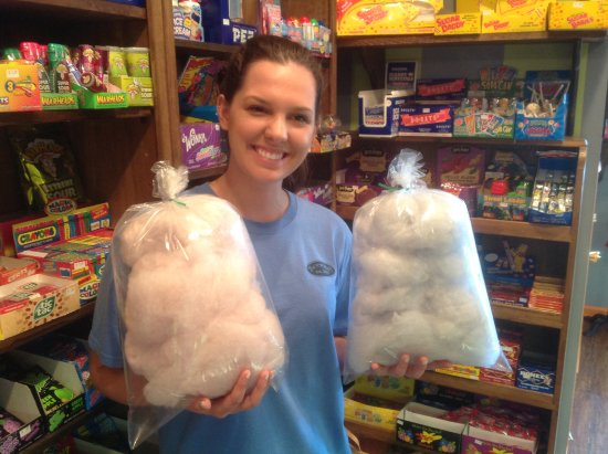 Madison, GA: Nothing like a fresh warm bag of cotton candy, only $ 2.00