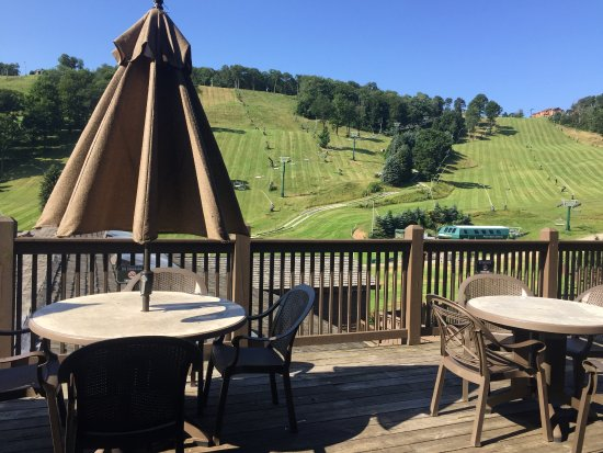Champion, PA: A view from the terrace toward the trails