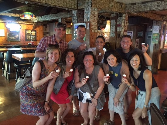 Kelleys Island, OH: Strawberry shots for everyone!