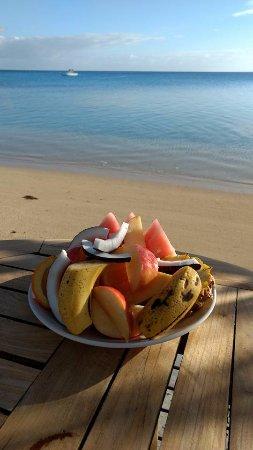 Fafa Island, Tonga: Breakfast Fruit Platter