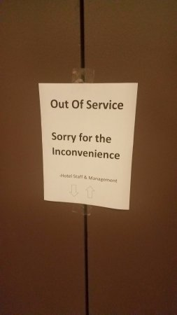 Sheraton Edison Hotel Raritan Center: There was only 1 elevator working during the whole week