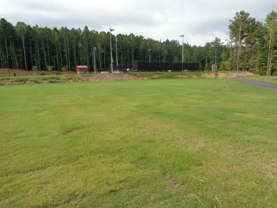 Canton, GA: Tennis courts and skate park in the distance.