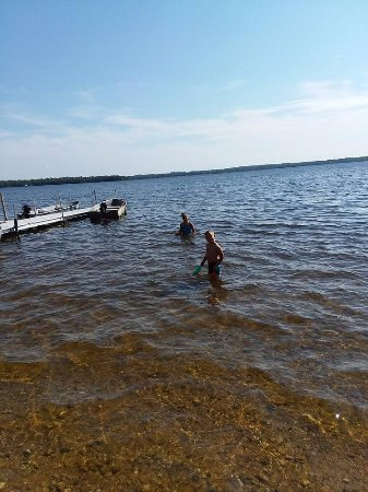 Carp Lake, MI: Warm water