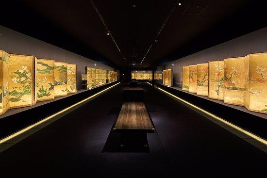 Hakone-machi, Giappone: 3階展示室(金屏風のみを常時展示)
