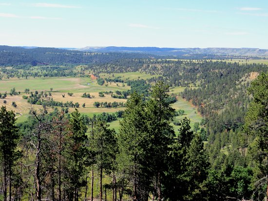 Devils Tower, WY: Countryside from Joyner Ridge Trail