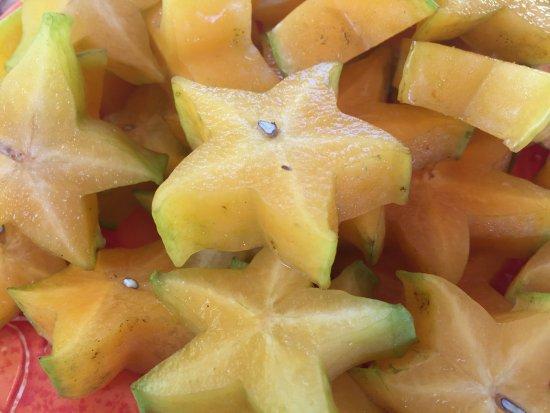 Kilauea, Hawaï: Amazing fresh local fruits and chocolate
