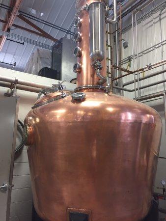 Baraboo, WI: Copper still, prized item of distillery