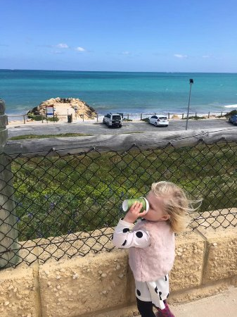 Quinns Rocks, Australien: Babycinno with a view. I LOVE my Blue Vue Cafe