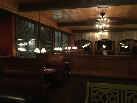 Streetsboro, OH: Dining area inside was too dark.