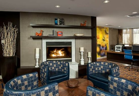 South Portland, ME: Lobby Fireplace