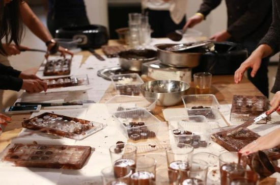 Taller de chocolate belga