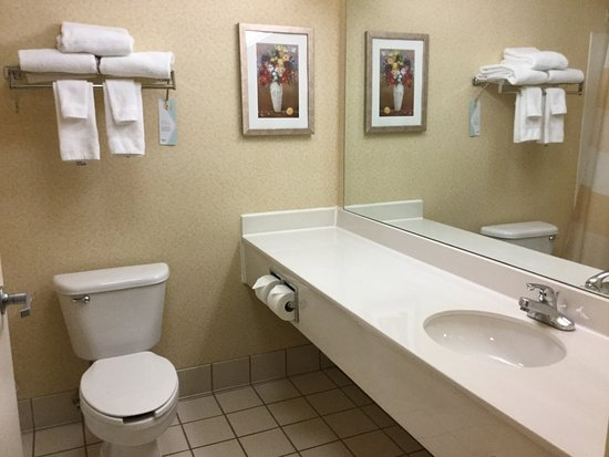 Fairfield Inn Uniontown: Toilet and basin.