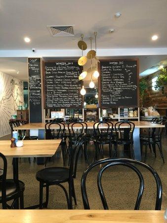 Richmond, Australie : Menu on the blackboard