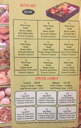 Wiarton, Kanada: Takeout menu
