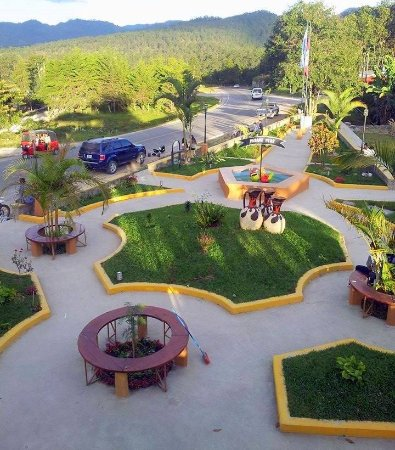 Marcala, Honduras: Top view of the Parque Perú